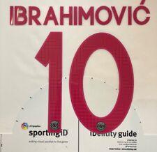 2015/16 UCL CHAMPIONS LEAGUE PSG PARIS IBRAHIMOVIC#10 3RD AWAY NAME SET