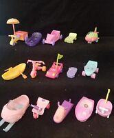 Littlest Pet Shop lps vehicles 3 PC RANDOM Accessories lot car wagon boat
