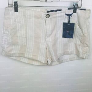 Boom Boom Jeans Juniors Size 11 Linen Shorts Striped