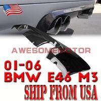 USA Exhaust Carbon Fiber Tail Rear Diffuser Lip Bumper for 01-06 BMW E46 M3 AM