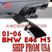 USA Exhaust Carbon Fiber Tail Rear Diffuser Lip Bumper for 2001-2006 BMW E46 M3