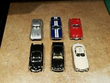 "6 total 5"" Kinsmart Corvette, Mercedes, Mustang, GT-500 Diecast Model Toy 1:36"