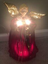 Vintage Angel Christmas Tree Topper - Lighted
