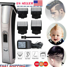 Rechargeable Men Electric Hair Clipper Trimmer Cordless Wireless Hair Cutting Kt
