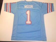 baa850f89 UNSIGNED CUSTOM Sewn Stitched Warren Moon Blue Jersey - 3XL