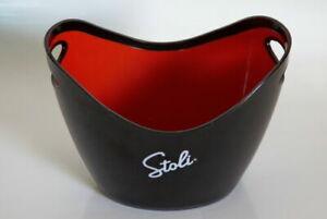 STOLI STOLICHNAYA Vodka Black & Red Durable Plastic Cooler Ice Bucket