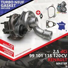 Turbo NEUF RENAULT MASTER II Autocar 2.5 dCi 120 -84 Kw 115 Cv AVEC JOINTS GASKE