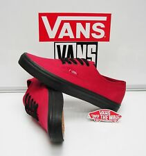 Vans Authentic Black Sole Jester Red VN0003Z3HXP Men's Size: 10
