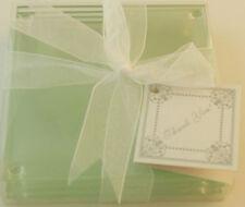 LOVE Glass Coasters Set of 4 Stocking Stuffer Wedding Favor Bridal Shower