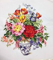 "Large New Completed finished cross stitch""Classical Flower Vase""home decor gift"