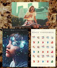 GRACE VANDERWAAL 2017 Ltd Ed RARE Postcards+Tattoos Lot +FREE Indie Pop Stickers