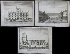 1743 OXFORD 3 etchings Thomas Salmon Albrizzi University St John's Ambrosden