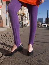 Steg Leggings M Steghose lila 90er TRUE VINTAGE stirrup 90s Damenmode