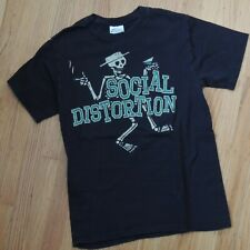 Social Distortion Vintage T Shirt Size Small Black Skeleton Punk Rock Tee