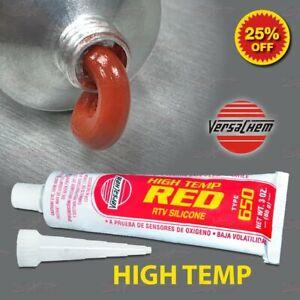 VC RED High Temp RTV Silicone Sealant Engine Intake Exhaust Manifold Gasket USA