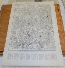 1912 Collier's City Map////LONDON, ENGLAND (Lord Mayor Part), & LONDON, (Western