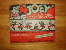 Vintage Joey The Amazing bailando Payaso Marioneta de tarjeta 1949 Troquelado