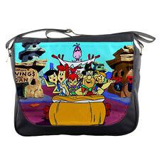 School Messenger Bag The Flintstones Cartoon Shoulder Travel Notebook Bags