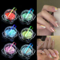 6 Colors Ice Transparent Fashion Mirror Powder 0.2g UV Gel Pigment Nails Salon