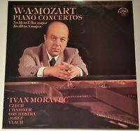 Mozart Piano Concertos No. 14 & 23 Ivan Moravec Vlach Supraphon Stereo 1 10 1768