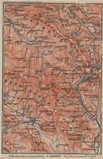 Bavarese / della foresta boema bayrischer / BÖHMERWALD. bodenmais zelezna Ruda 1914 mappa