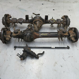 Nissan Patrol GU Y61 Front + Rear Diff Housings No Centres With Steering Box