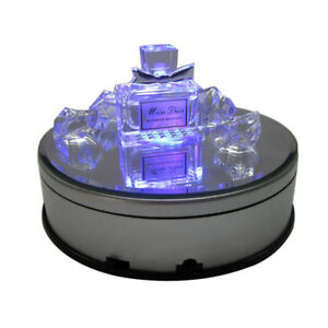 4.5 inch Electric Motorized Rotating Turntable Display Stand with 7 color LED