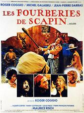 Affiche 40x60cm LES FOURBERIES DE SCAPIN (1981) Roger Coggio, Michel Galabru TBE