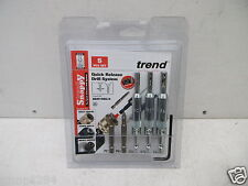 TREND SNAPPY 5PCE HINGE FITTING DRILL BIT GUIDE SET + BITS   SNAP/DBG/A