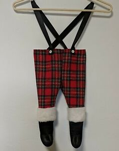 Christmas Handmade Santa Pants Stocking with Black Boots Adorable!