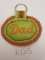 K015 - Handmade Felt Keyring - Dad