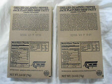 Lot of 2-MRE Entree (Grilled Jalapeno Pepper Jack Beef Patty)YUMMY