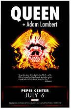 QUEEN + ADAM LAMBERT 2017 Pepsi Center - Denver 11x17 Concert Poster / Gig Flyer