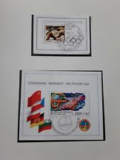 DDR 1980  p228 of safe album,  2 used mini sheets Olympic games + Eggerath