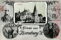 AK Bernburg (Saale) Kurhaus,Stadtwappen,Herzog Friedrich v. Anhalt,1916,16/04