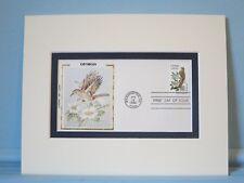 State Bird & Flower of Georgia - Brown Thrasher & Cheroke Rose & First Day Cover