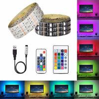 DC 5V 5050 SMD RGB USB LED strip Light Ribbon tape 0.5M-5M USB charger LED lamp