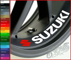 SUZUKI Inside Wheel Rim Stickers Decals - 20 Colors Available - x 4 or x 8