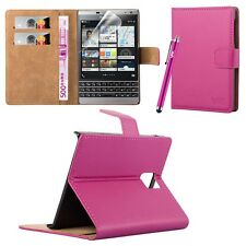 Wallet Flip Book [Stand View] Case Cover For BlackBerry Passport Mobile Phone