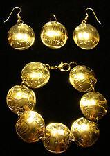 3-Stringed Lyre-Harp BRACELET EARRINGS of Israeli 25 Agorot Agora coins JEWELRY
