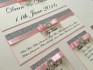 Glitter Wedding Table Seating Plan Cards Table Numbers Personalised Silver Gold