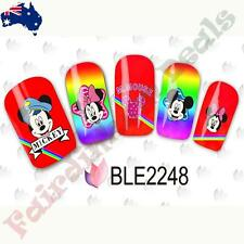 20 Mickey & Minnie Mouse Cartoon Nail Art Stickers Water Decals BLE2248