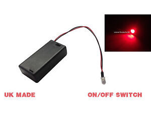 RED FLASHING LED LIGHT DUMMY SECURITY CAR ALARM Motorbike BELL BOX Switched AA