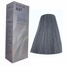 BERINA A21 LIGHT GREY SILVER COLOR PERMANENT HAIR DYE COLOR CREAM