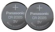 2 x Panasonic CR2025 Pila Bottone Batteria 3V replace CR BR DL ECR KCR 2025