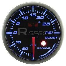 Coche 52mm Ahumado Azul 52mm de motor de pasos Boost Gauge Psi Con Advertencia