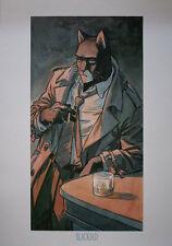 """Juanjo GUARNIDO  """"Blacksad , le bar"""" Affiche BD"""
