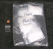 500 - 1.25x1.25 Ziploc Zip Lock Plastic Storage Bags