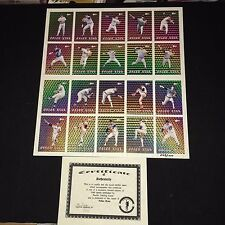 1993 PACIFIC NOLAN RYAN 27th SEASON PRISM-GOLD Complete UNCUT 20 Card Set