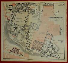 1893-ITALIA-ROMA-MONS PALATINUS-MONTE PALATINO-BAEDEKER CARTA ORIGINALE